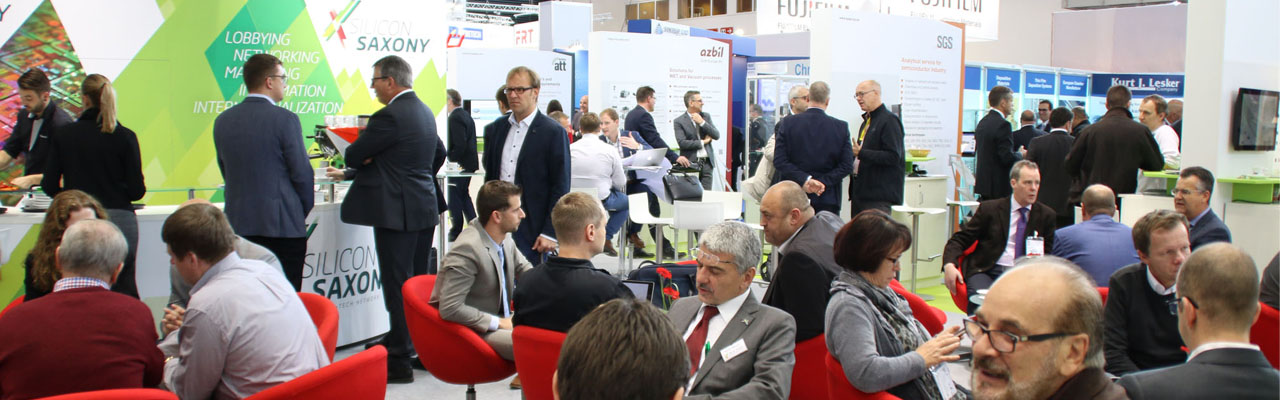 [Translate to Englisch:] Silicon Saxony Messestand auf der SEMICON Europa