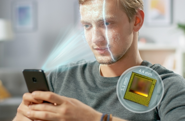 Infineon: World's smallest 3D image sensor for face authentication and photo effects