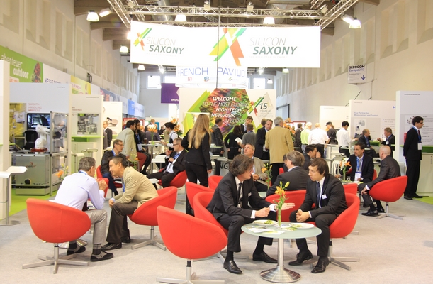 Silicon Saxony joint booth at SEMICON Europa 2015.