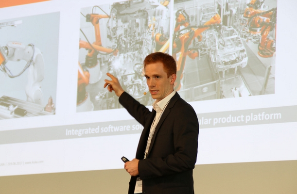 Keynote by robot manufacturer KUKA about smart production